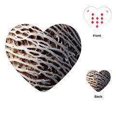 Seed Worn Lines Close Macro Playing Cards (heart)