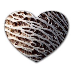 Seed Worn Lines Close Macro Heart Mousepads