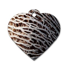 Seed Worn Lines Close Macro Dog Tag Heart (One Side)