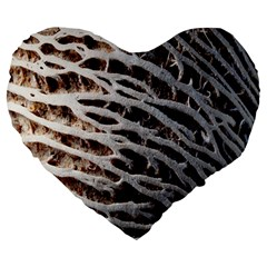 Seed Worn Lines Close Macro Large 19  Premium Heart Shape Cushions
