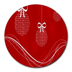 Simple Merry Christmas Round Mousepads