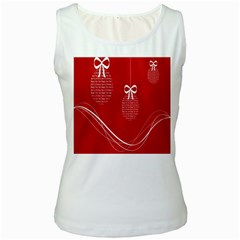 Simple Merry Christmas Women s White Tank Top