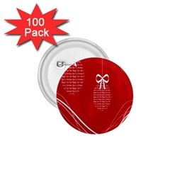 Simple Merry Christmas 1.75  Buttons (100 pack)