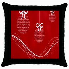 Simple Merry Christmas Throw Pillow Case (black)