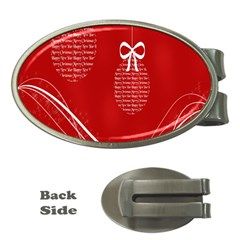 Simple Merry Christmas Money Clips (Oval)