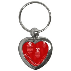 Simple Merry Christmas Key Chains (Heart)
