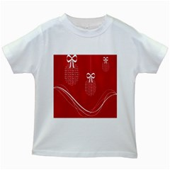Simple Merry Christmas Kids White T-Shirts