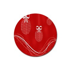 Simple Merry Christmas Magnet 3  (Round)