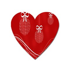 Simple Merry Christmas Heart Magnet