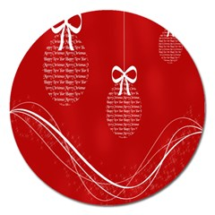 Simple Merry Christmas Magnet 5  (Round)