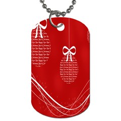 Simple Merry Christmas Dog Tag (one Side)