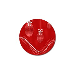 Simple Merry Christmas Golf Ball Marker (10 pack)