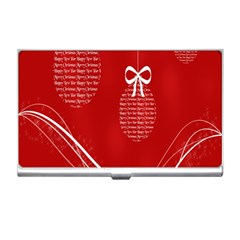 Simple Merry Christmas Business Card Holders
