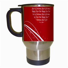 Simple Merry Christmas Travel Mugs (White)
