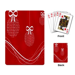 Simple Merry Christmas Playing Card