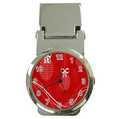 Simple Merry Christmas Money Clip Watches