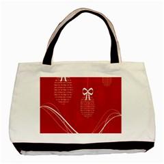 Simple Merry Christmas Basic Tote Bag