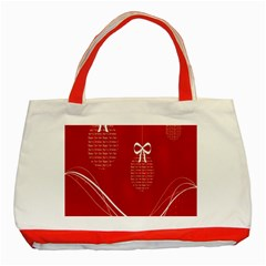 Simple Merry Christmas Classic Tote Bag (Red)