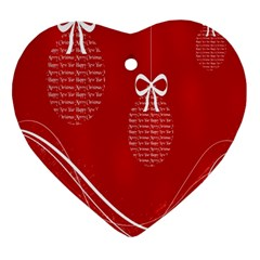 Simple Merry Christmas Heart Ornament (Two Sides)