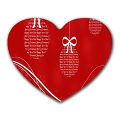 Simple Merry Christmas Heart Mousepads