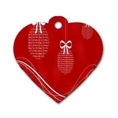 Simple Merry Christmas Dog Tag Heart (One Side)