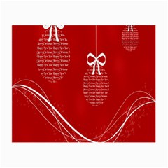Simple Merry Christmas Small Glasses Cloth (2 Side)