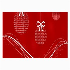 Simple Merry Christmas Large Glasses Cloth