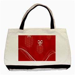 Simple Merry Christmas Basic Tote Bag (Two Sides)