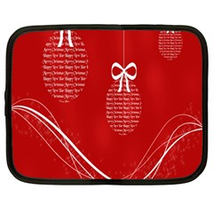 Simple Merry Christmas Netbook Case (Large)