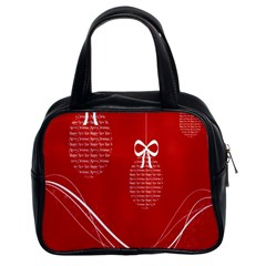 Simple Merry Christmas Classic Handbags (2 Sides)
