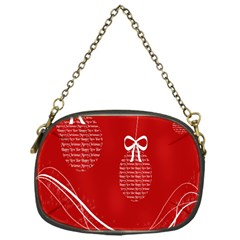 Simple Merry Christmas Chain Purses (one Side)
