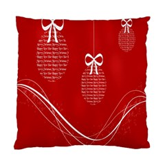 Simple Merry Christmas Standard Cushion Case (Two Sides)
