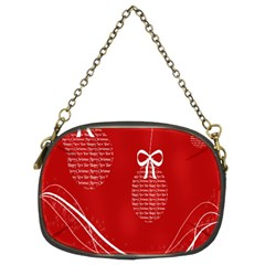 Simple Merry Christmas Chain Purses (Two Sides)