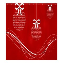Simple Merry Christmas Shower Curtain 66  x 72  (Large)