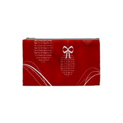 Simple Merry Christmas Cosmetic Bag (Small)