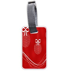Simple Merry Christmas Luggage Tags (One Side)