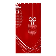 Simple Merry Christmas Shower Curtain 36  x 72  (Stall)