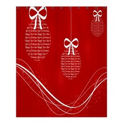 Simple Merry Christmas Shower Curtain 60  X 72  (medium)