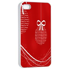 Simple Merry Christmas Apple Iphone 4/4s Seamless Case (white)
