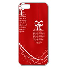 Simple Merry Christmas Apple Seamless Iphone 5 Case (clear)