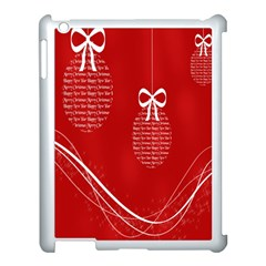 Simple Merry Christmas Apple Ipad 3/4 Case (white)