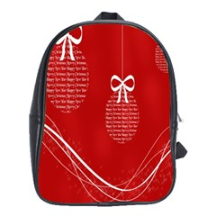 Simple Merry Christmas School Bags (XL)