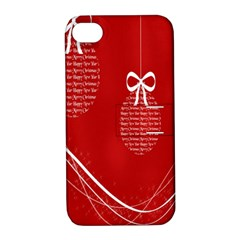 Simple Merry Christmas Apple Iphone 4/4s Hardshell Case With Stand