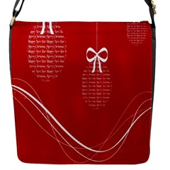 Simple Merry Christmas Flap Messenger Bag (s)