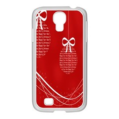 Simple Merry Christmas Samsung Galaxy S4 I9500/ I9505 Case (white)
