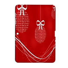 Simple Merry Christmas Samsung Galaxy Tab 2 (10 1 ) P5100 Hardshell Case
