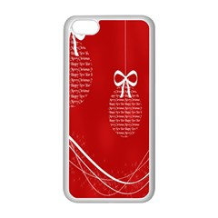 Simple Merry Christmas Apple iPhone 5C Seamless Case (White)