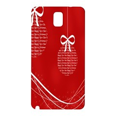 Simple Merry Christmas Samsung Galaxy Note 3 N9005 Hardshell Back Case