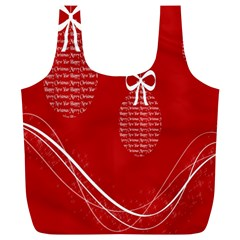 Simple Merry Christmas Full Print Recycle Bags (l)