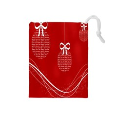 Simple Merry Christmas Drawstring Pouches (medium)